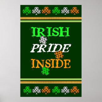 St Patrick's Irish Damask Flag Poster / Print