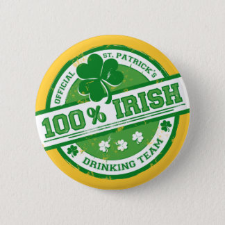 St. Patrick's Irish Drinking Team funny button