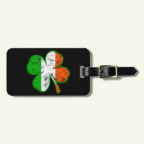 St Patricks Irish Flag Shamrock in grunge style Luggage Tag