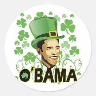 St Patrick's Irish O'Bama 2009 Round Stickers