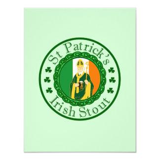 St. Patrick's Irish Stout 4.25x5.5 Paper Invitation Card