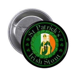St. Patrick's Irish Stout 2 Inch Round Button