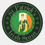 St. Patrick's Irish Stout Classic Round Sticker