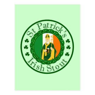 St. Patrick's Irish Stout Post Card