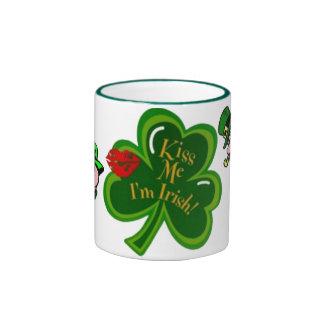 St. Patrick's Kiss Me I'm Irish Mug Ringer Mug