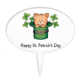 St. Patricks Kitty Cake Topper