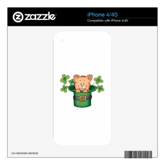 St. Patricks Kitty Decals For The iPhone 4S