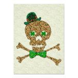 St. Patrick's Leopard Skull 5x7 Paper Invitation Card