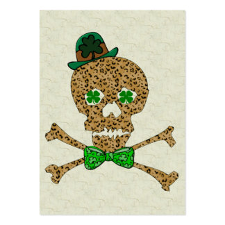 St. Patrick's Leopard Skull Large Business Card