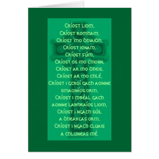 St. Patrick's Lorica Card