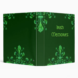 St. Patrick's Lucky Fleur de lis 3 Ring Binder