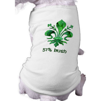 St. Patrick's Lucky Fleur de lis Dog Tee