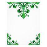 St. Patrick's Lucky Fleur de lis Personalized Letterhead
