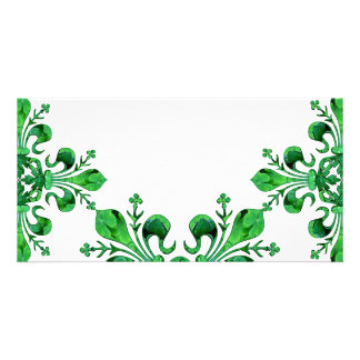 St. Patrick's Lucky Fleur de lis Photo Card