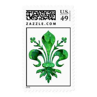 St. Patrick's Lucky Fleur de lis Stamp