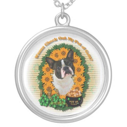 St Patricks - mina de oro - Boston Terrier Joyeria Personalizada