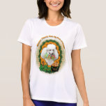St Patricks - mina de oro - caniche - blanco Camiseta