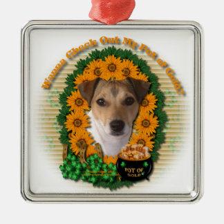 St Patricks - mina de oro - Jack Russell Ornamento Para Reyes Magos