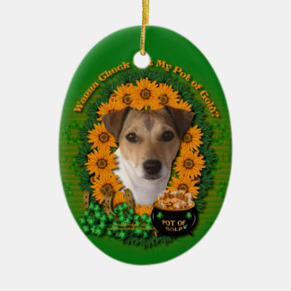 St Patricks - mina de oro - Jack Russell Ornamentos De Reyes