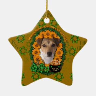 St Patricks - mina de oro - Jack Russell Adorno De Navidad
