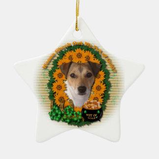 St Patricks - mina de oro - Jack Russell Ornamente De Reyes