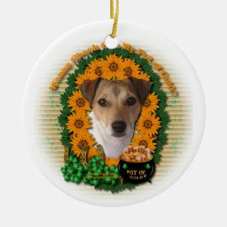 St Patricks - mina de oro - Jack Russell Ornamentos Para Reyes Magos