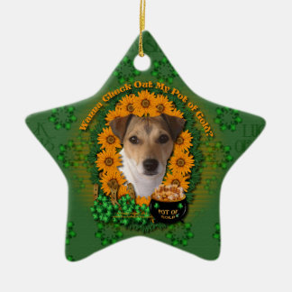 St Patricks - mina de oro - Jack Russell Ornamento De Reyes Magos
