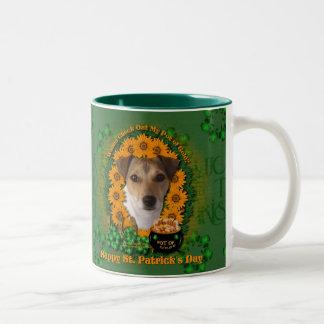 St Patricks - mina de oro - Jack Russell Taza De Café