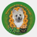 St Patricks - mina de oro - mojón Terrier Etiquetas Redondas