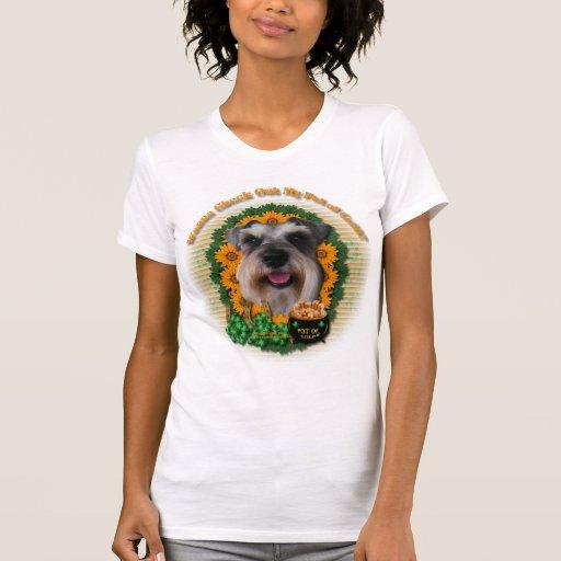 St Patricks - mina de oro - Schnauzer Camisetas