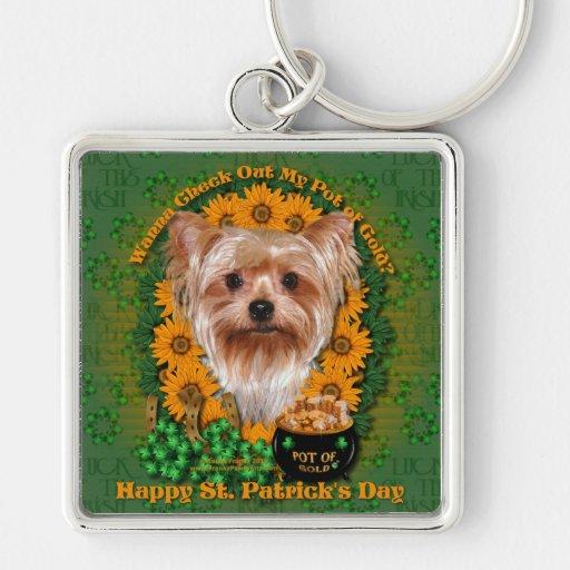 St Patricks - mina de oro - Yorkshire Terrier Llavero