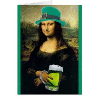 St Patrick's Mona Lisa Greeting Cards