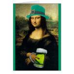 St Patrick's Mona Lisa Greeting Card