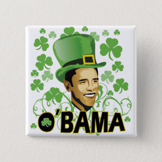 St Patrick's O'Bama 2009 Button