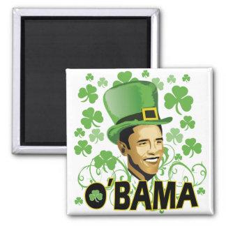 St Patrick's O'Bama 2009 2 Inch Square Magnet