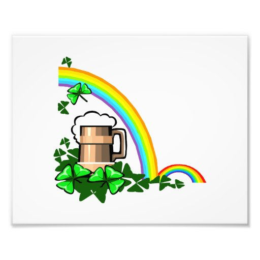 st patricks.png del trébol de los arco iris del st impresion fotografica