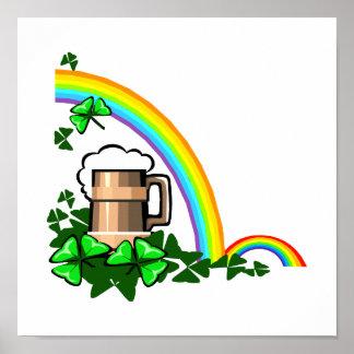 st patricks.png del trébol de los arco iris del st póster