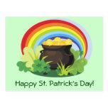St. Patrick's Pot-o-Gold Postcard