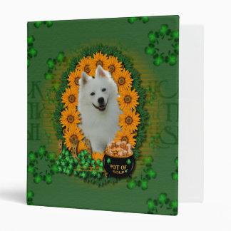 St Patricks - Pot of Gold - American Eskimo Vinyl Binders