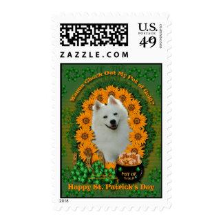 St Patricks - Pot of Gold - American Eskimo Stamps