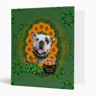 St Patricks - Pot of Gold - Bulldog 3 Ring Binders