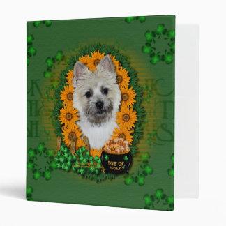 St Patricks - Pot of Gold -Cairn Terrier TeddyBear Binders