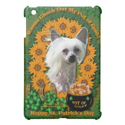 St Patricks - Pot of Gold - Chinese Crested -Kahlo Case For The iPad Mini