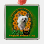 St Patricks - Pot of Gold - Chinese Crested -Kahlo Ornaments