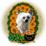 St Patricks - Pot of Gold - Chinese Crested -Kahlo Photo Cut Outs