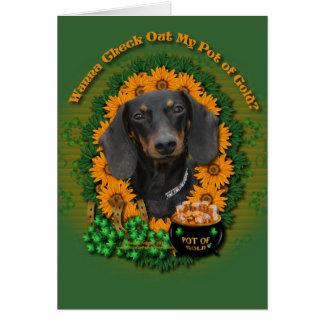 St Patricks - Pot of Gold - Dachshund - Winston Card