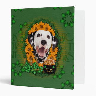 St Patricks - Pot of Gold - Dalmatian 3 Ring Binder