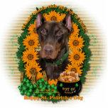 St Patricks - Pot of Gold - Doberman - Red - Rocky Cut Out