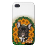 St Patricks - Pot of Gold - French Bulldog - Teal Case For iPhone 4