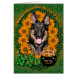 St Patricks - Pot of Gold - German Shepherd - Kuno Greeting Card
